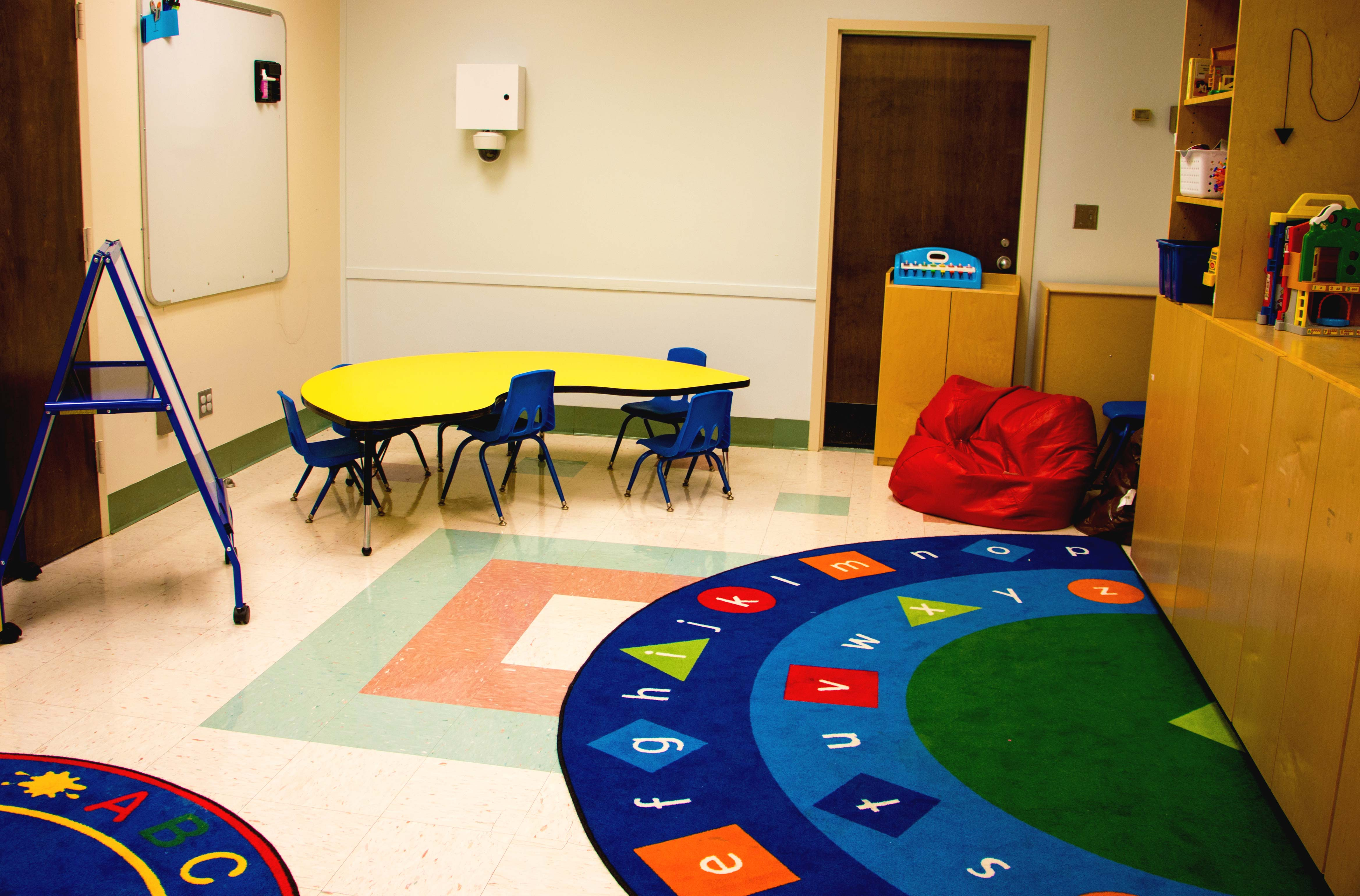 a colorfully decorated classroom